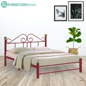 MARTELL queen size metal single bedframe