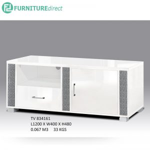 Clearance-TV834161 4feet tv cabinet-white (1unit)