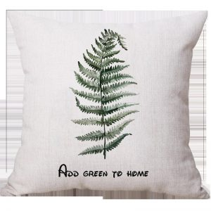 Tropical plants 45x45cm line fabric cushion pillow-Fern Frond
