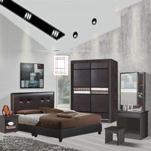 TAD 1502 OMAN 5 pieces queen bedroom set furniture set - queen size (wenge)