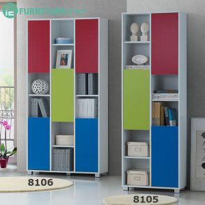 CLEARANCE- BS8105 & BS8106 feet bookcase filling cabinet- 2 unit only
