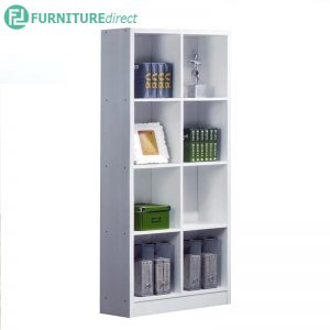 BS562WH 2x4 cubes bookcase filling cabinet-white
