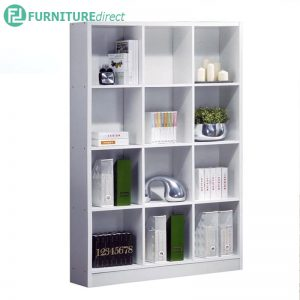 BS563WH 3x4 cubes bookcase filling cabinet-white
