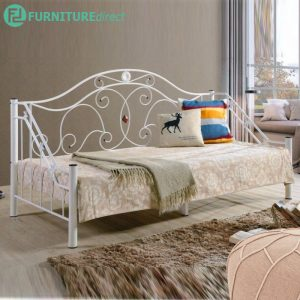 DB999 single size metal day bed- White