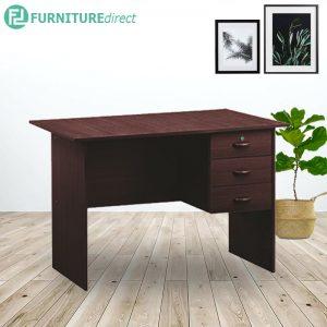 EKO 3 feet office desk study desk with 3 drawer- Cappucino