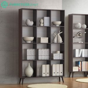 FC7202 filling cabinet 3x4 bookcase with solid wood legs