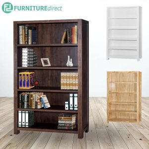 HERITAGE 4 Feet solid wood open shelf bookcase- 3 colors