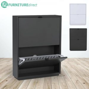 LIKO MDF painted 2 doors shoe cabinet- 2 colors