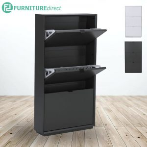 LIKO MDF painted 3 doors shoe cabinet- 2 colors