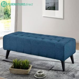 LINDA 4 feet fabric bench chair-Blue