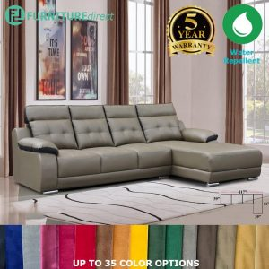 Custom Made- RO013 ELLE 4 seater L shaped sofa- Casa leather