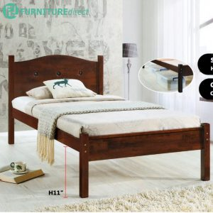 Furniture Direct CHERRY SB4119 single size wooden bed frame-cherry