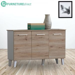 CF1306 Scandinavian 3 door shoe cabinet-oak/white