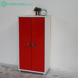 Clearance-SC864629 high gloss 2 door shoe cabinet-Red (Last Unit)