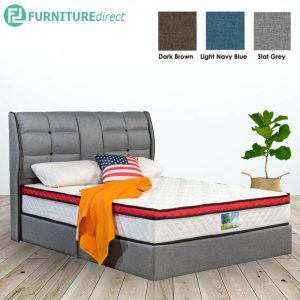 3004 premium grand queen size divan bed frame-3 colors