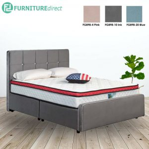 3005 premium grand queen size divan bed frame-3 colors