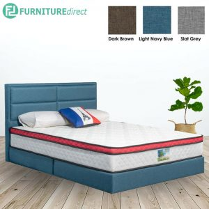 3006 premium grand queen size divan bed frame-3 colors