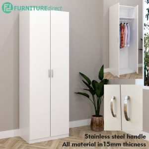 ESCOT 2 Door wardrobe-White