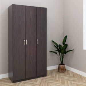ESCOT 3 Door wardrobe-Wenge