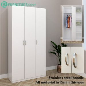 ESCOT 3 Door wardrobe-White