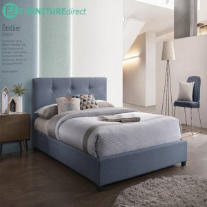 LENCIA single size fabric divan bed-blue