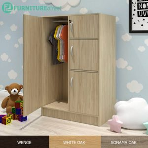 BARRY children wardrobe with key lock