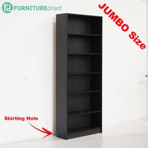 DANNY Jumbo size 6 tier tall bookcase