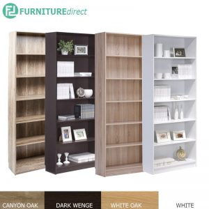 DANNY Jumbo size 6 tier tall bookcase-4 colors