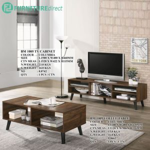 EMAN 5 Feet TV cabinet with coffee table bundle