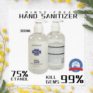 GOTDYA 300ml 75% alcohol hand sanitiser