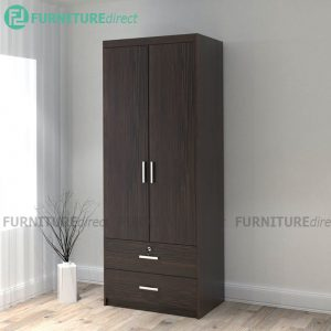 LIBERTY 2 Door 2 Drawer Wardrobe with key lock - Wenge