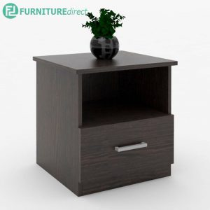 ESCOT 1 drawer bedside table-wenge
