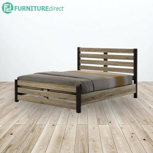 WOODEN QUEEN BED WITH BASE - 5FT