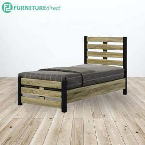 WOODEN SINGLE BED WITH BASE - 3FT