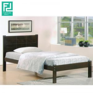 CINDY SB6002 single wooden bed- Black Cherry