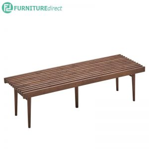 14-2539 Solid rubberwood bench chair in 2 sizes