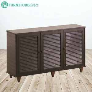 [CLEARANCE] ALMO 3 Door shoe cabinet with louver door
