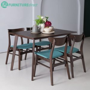 AUDREY 4 seater solid wood dining set-green