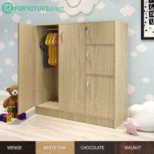 BARRY 5 doors children wardrobe with key lock- 4 colors