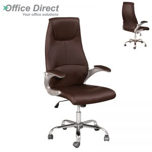 HBC-736 High Back Chair-Dark Brwown
