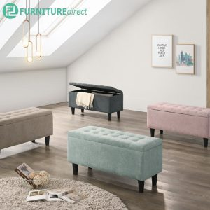 MAMBA fabric storage bench chair- 4 colors