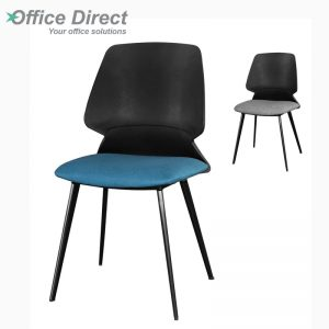 VC-9302-BL fabric seat visitor chair