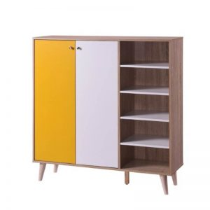 HENNA SHOES CABINET - NATURAL