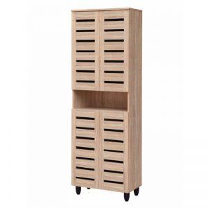 Tori 4 Doors Shoe Cabinet - Natural White