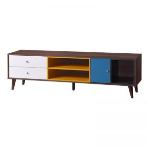 HENNA 6FT TV CABINET - Walnut