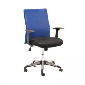 Medium Back Office Chair - Blue
