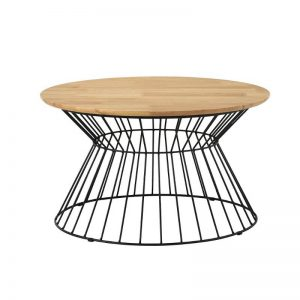 Kemy Coffee Table with Metal Leg
