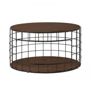 Mica Coffee Table with Metal Leg – Walnut