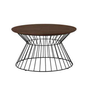 Kemy Coffee Table with Metal Leg - Walnut