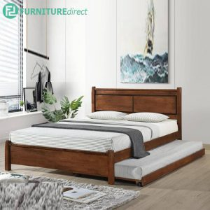 DB55519 CLINTON solid wood bedframe with pull out bed